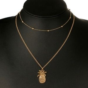 Gold Layered Pineapple Necklace